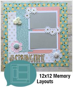 Shopping Category - 12x12 Memory Layouts