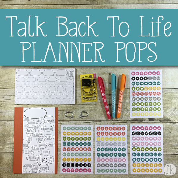 Talk Back To Life - Planner Pop - Product