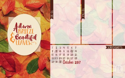 October Wallpaper: Autumn Breeze & Beautiful Leaves