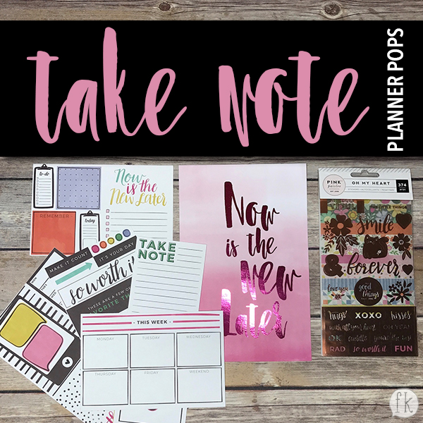 Take Note Planner Pops - Featured