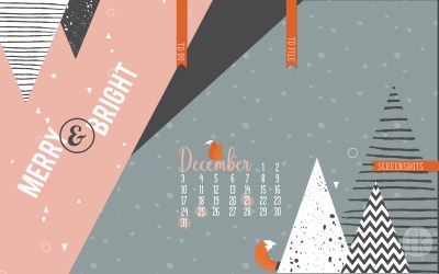 December Wallpaper: Merry & Bright
