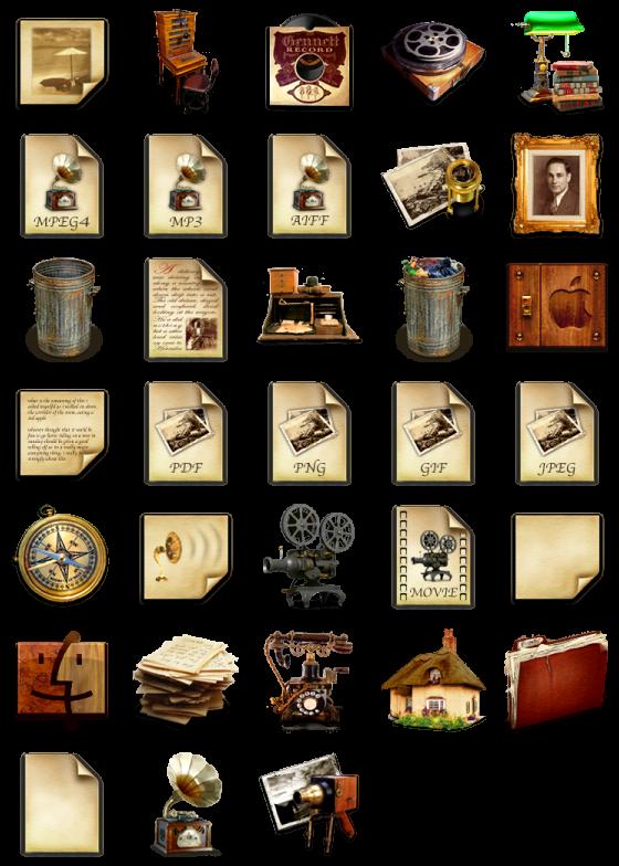 antique 33 free icons