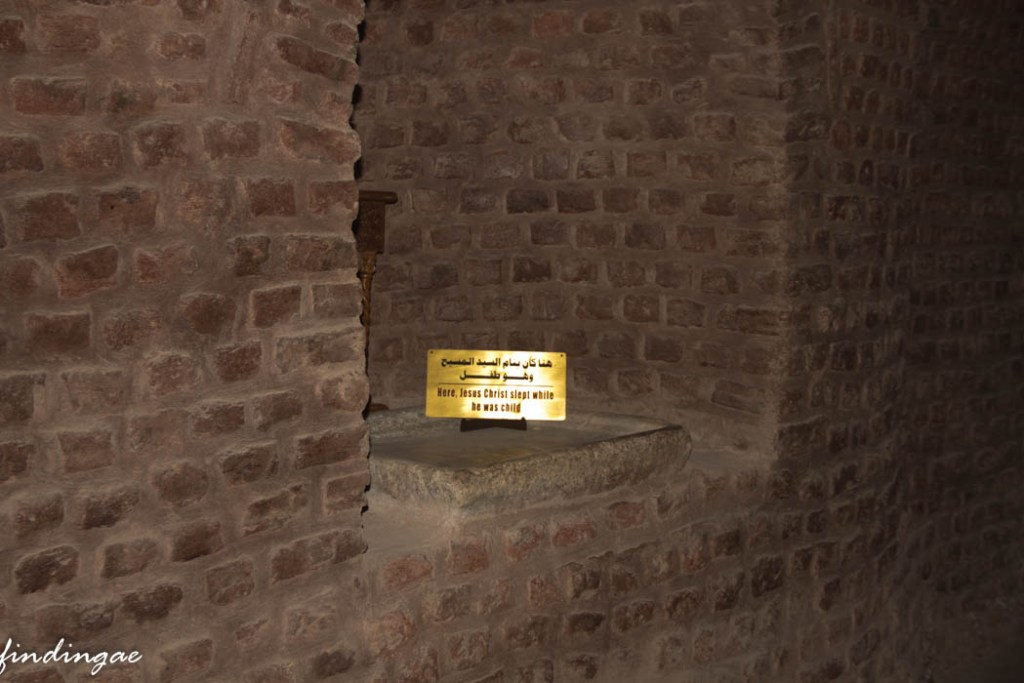 Where Jesus Christ laid as a child, Hanging Church