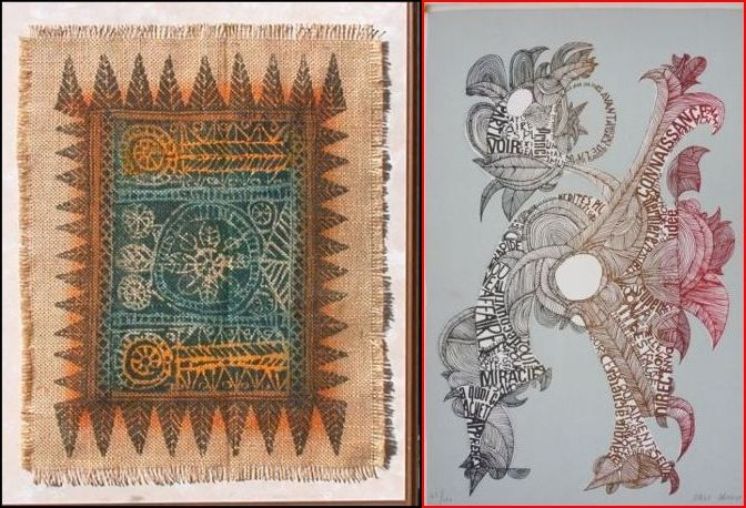 Textile Lithograph by Serge Arnoux