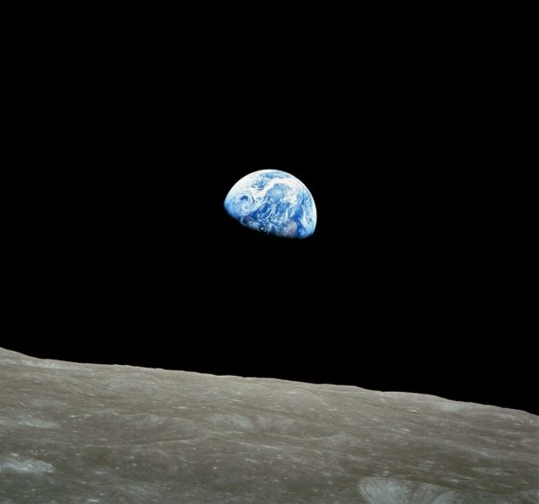 Home for the pantheisticon: Earthrise from Apollo 8, December 1968 Photograph by Bill Anders / NASA