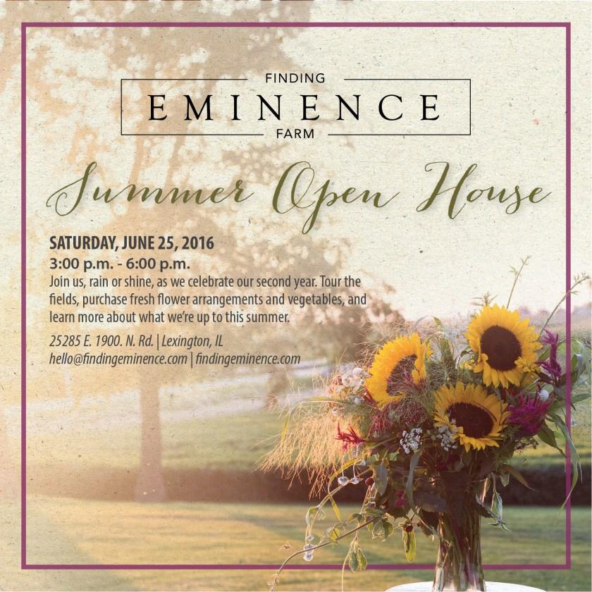2016 Summer Open House Invite