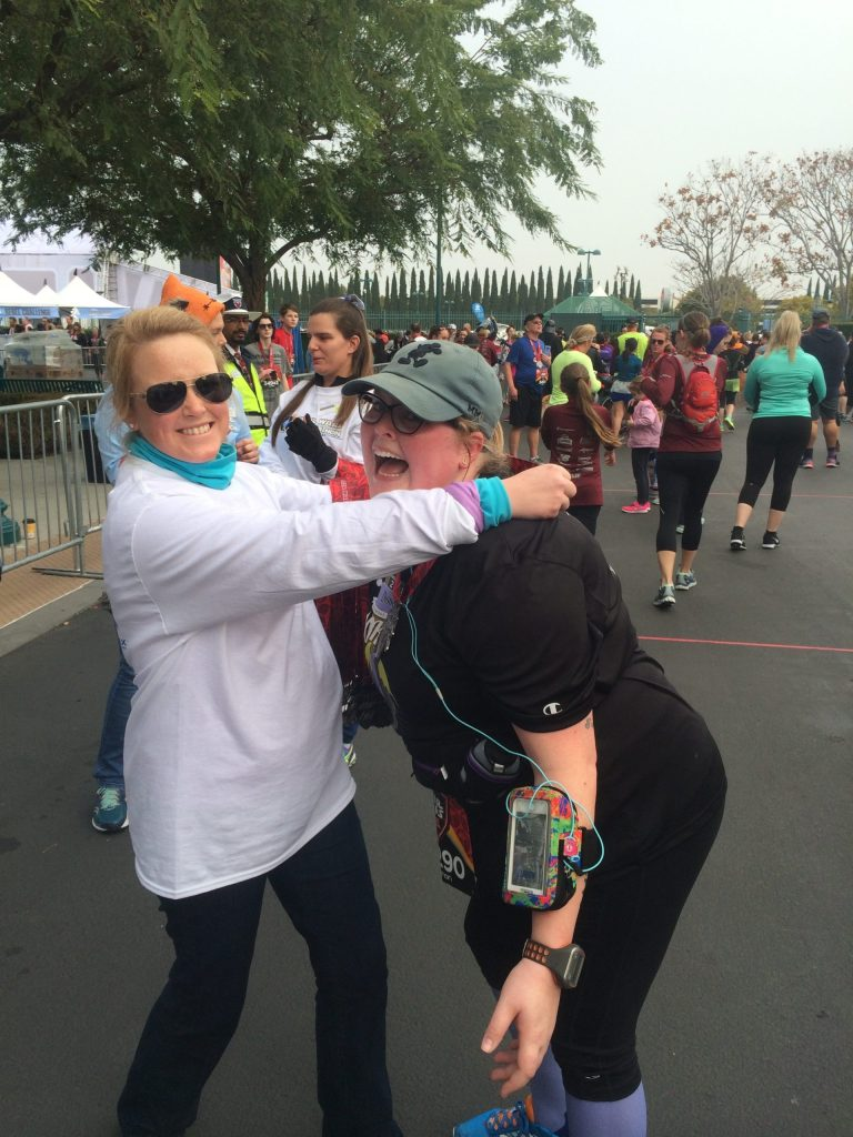 a rundisney favorite memory was when I was able to place the 10k medal on my sister as a rundisney volunteer.