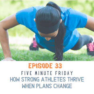 A woman thrives when plans change by working out outside
