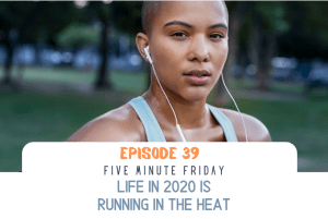 Powerful woman running in the heat