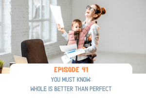 Mom brings her baby to the office as she juggles everything because whole is better than perfect