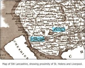 Map SW Lancashire with caption