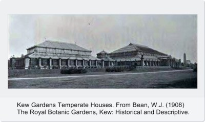 Glass Houses at Kew from Bean 1908 cropped