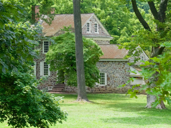 Side view of Washington's headquarters house in Valley Forge