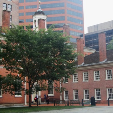 Independence Hall, Philadelphia (on left), Congress Hall (on right)