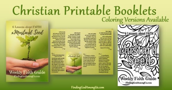 Christian printable booklets are pocket-sized faith guides to support your Christian journey. Also available as a coloring page.