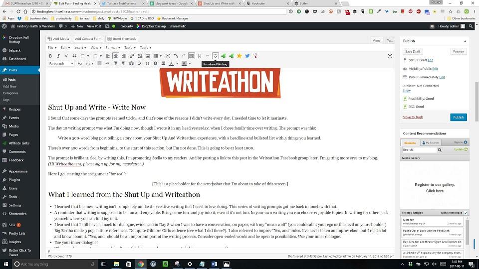 Shut Up and Write: The Blog Post.