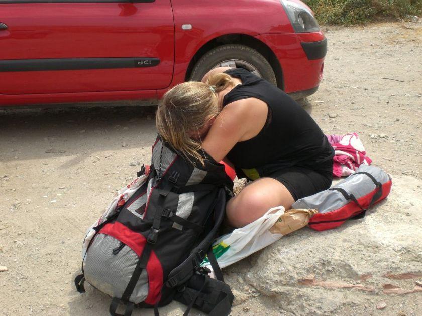 Backpacker Backpacking Spanien