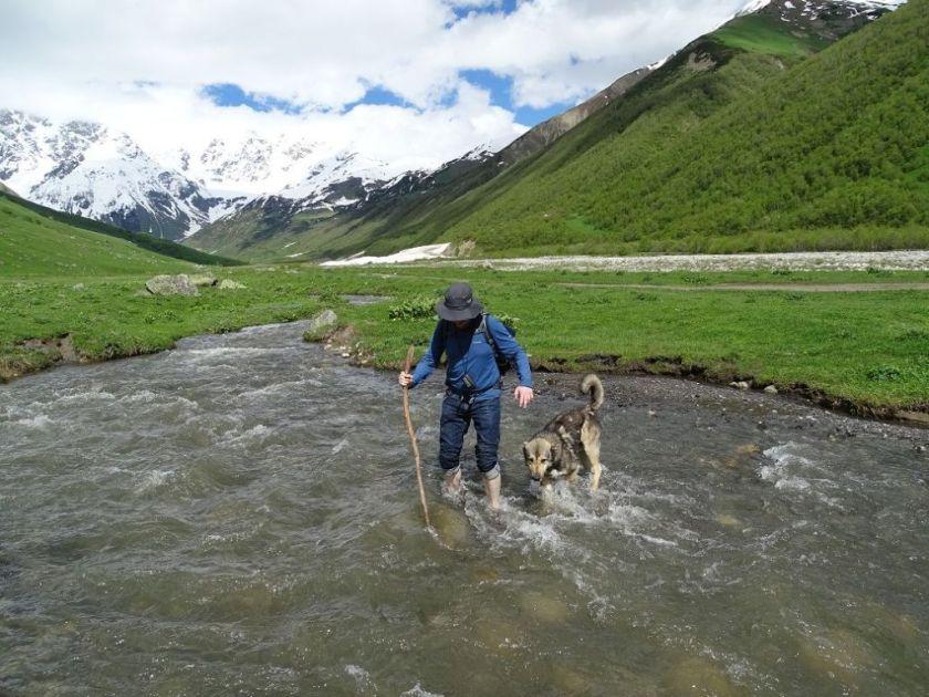 Wandern in Ushguli, Georgien