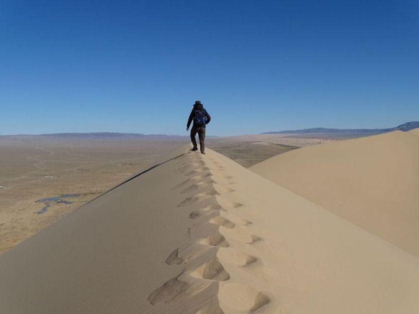 Sanddüne in der Gobi Wüste, Mongolei