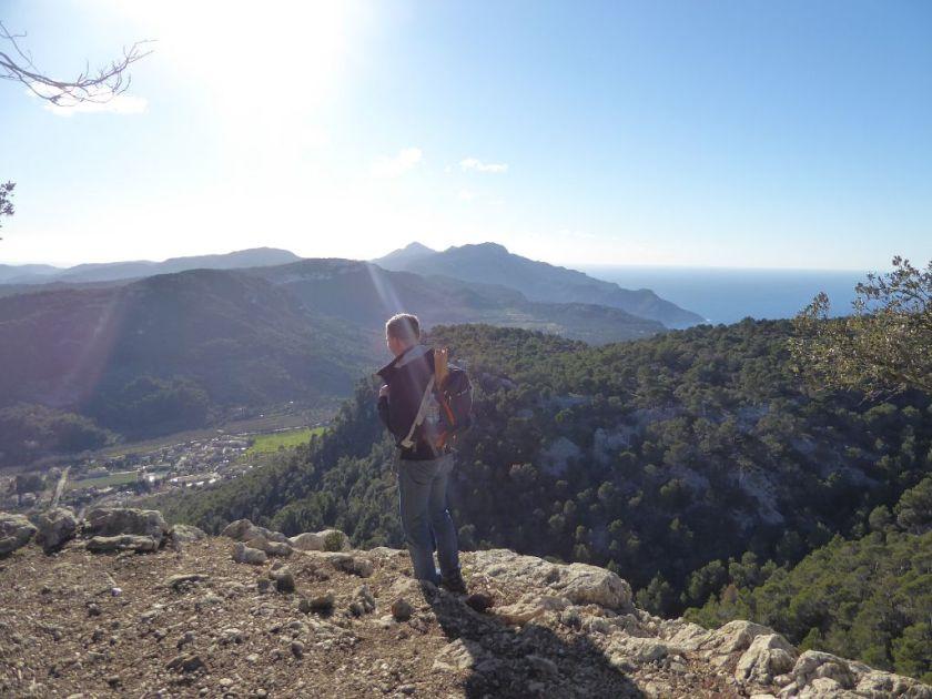 Mallorca kleine Wanderung im Valldemossa Ausblick