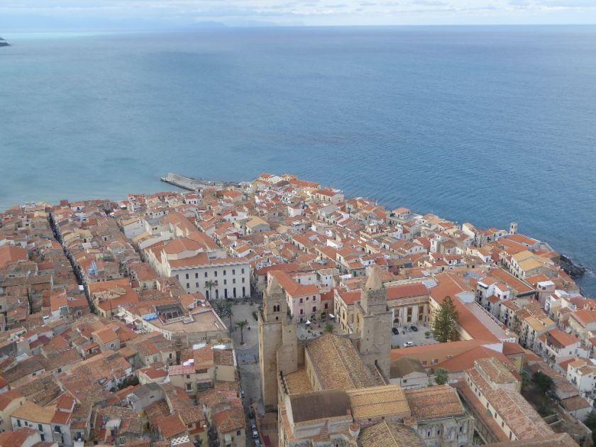 Ausblick auf Cefalù