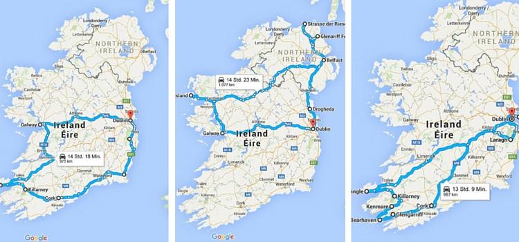 Routen Irland