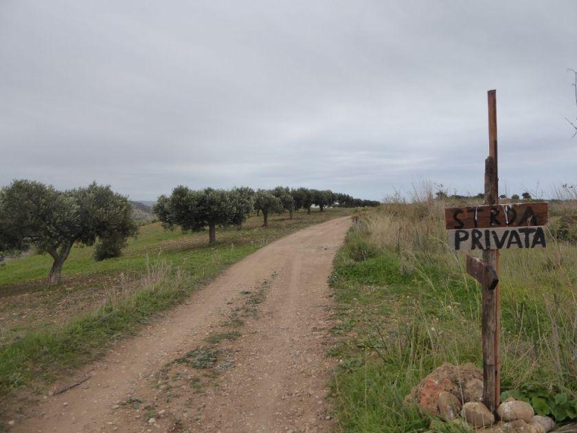 Wanderung Agrigento Mar D'Africa Strada Privata