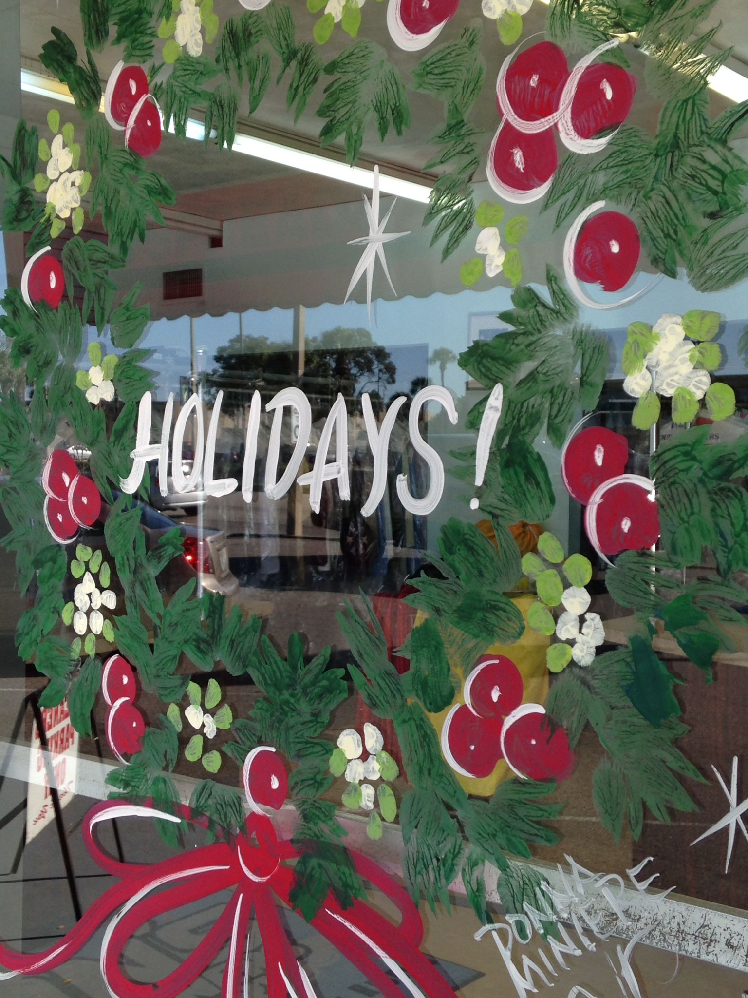 Christmas Window Painting Decorations