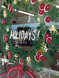 Christmas Window Painting Decorations