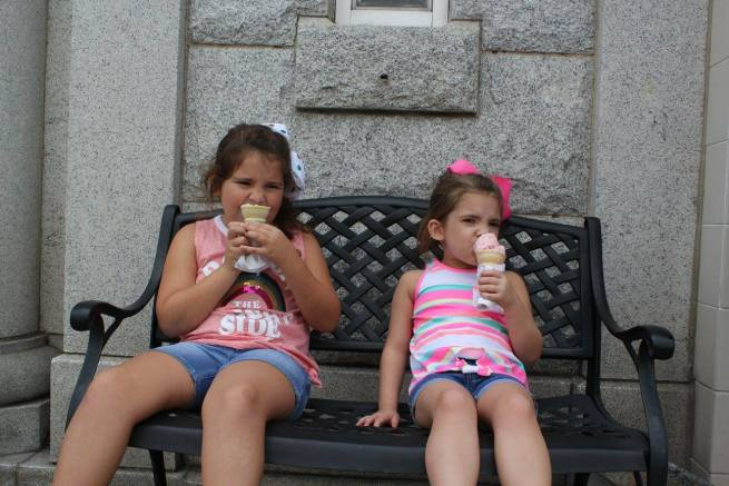 Eating ice cream in Mayberry to keep cool