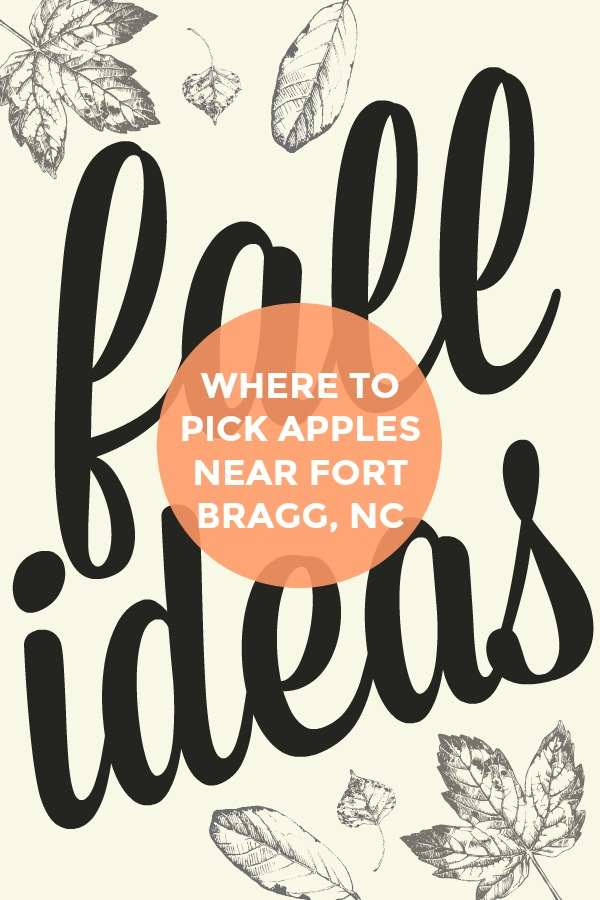 where to pick apples near Fort Bragg, NC