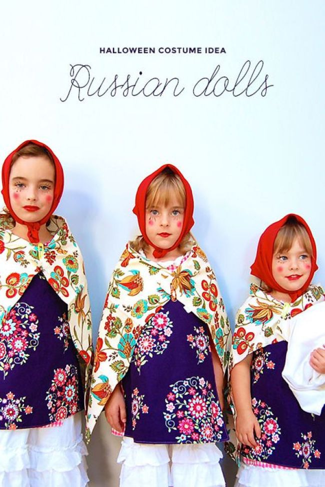 Russian Dolls Halloween costumes for sisters