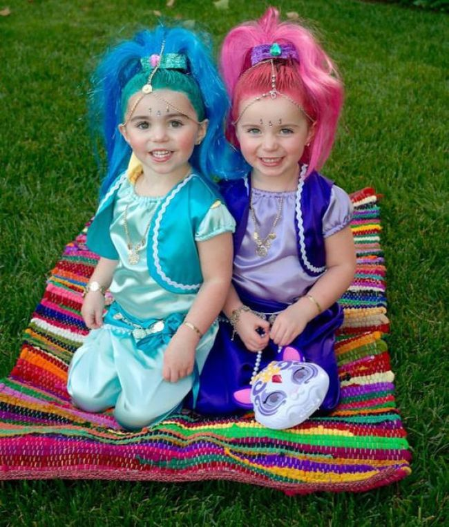 Shimmer and Shine Halloween costumes for sisters
