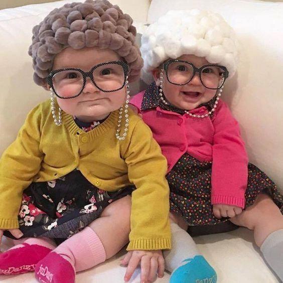 little old ladies Halloween costumes for sisters