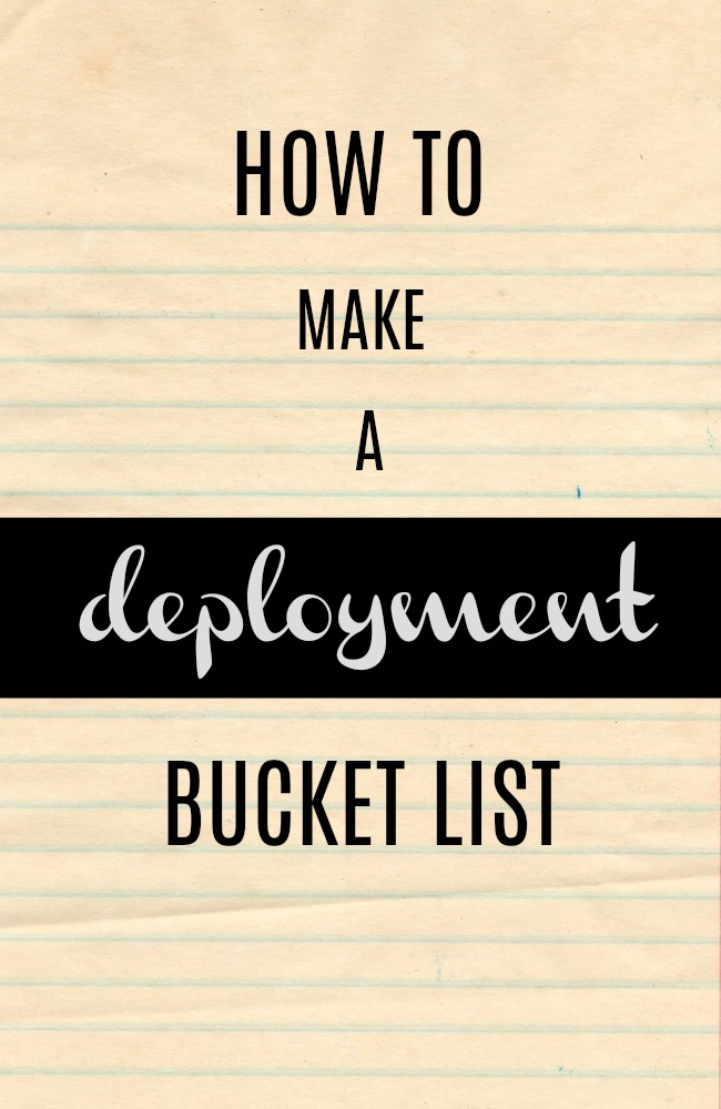 how to make a deployment bucket list