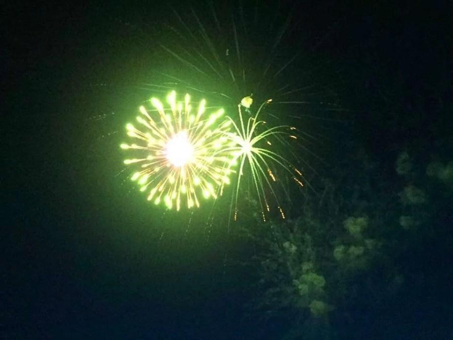 Fireworks over White Lake