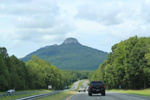 View of Pilot Mountain from the road