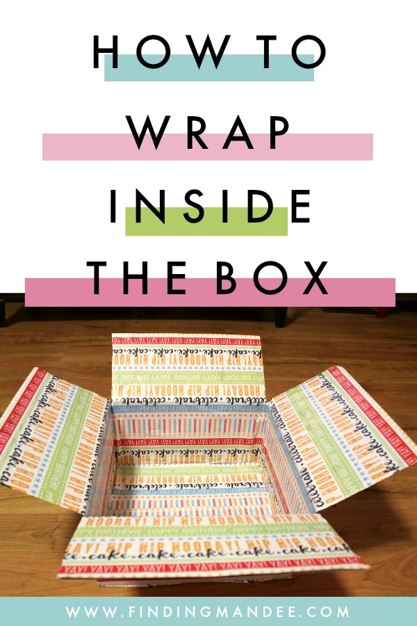 how to wrap inside a box for care packages