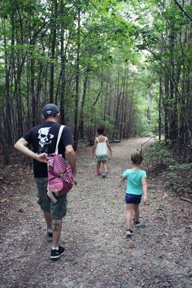 family hike in North Carolina near Fort Bragg
