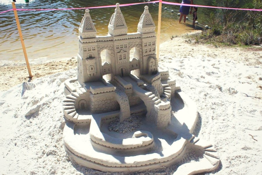 sand castle at Falling Water State Park