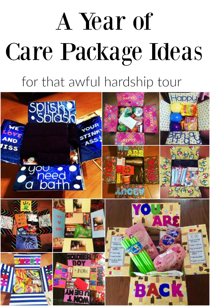 A Year of Care Package Ideas: For That Awful Hardship Tour | Finding Mandee