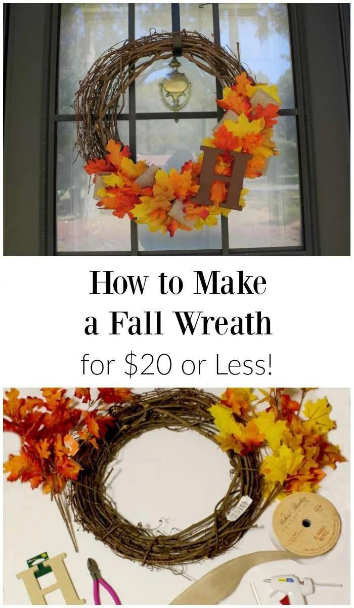 DIY Fall Wreath for Cheap
