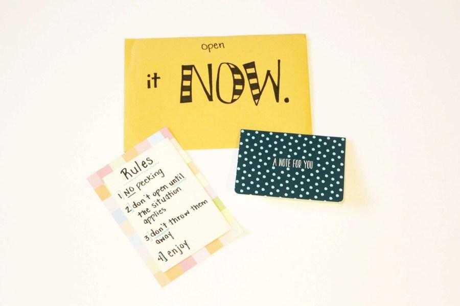 open when letter ideas: open it now
