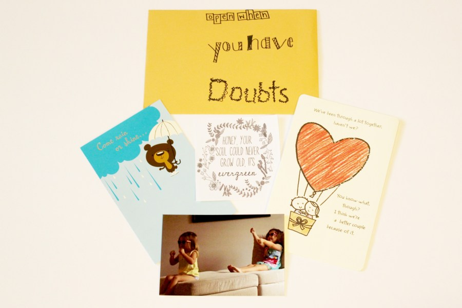 open when letters: open when you have doubts