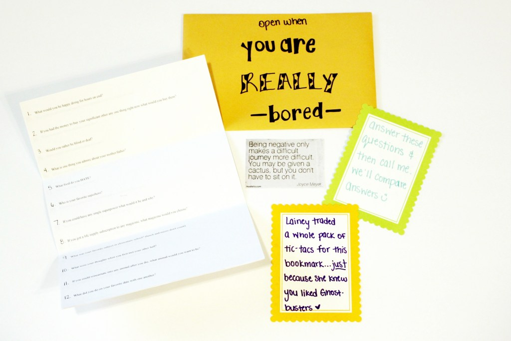 open when letters: open when you are really bored
