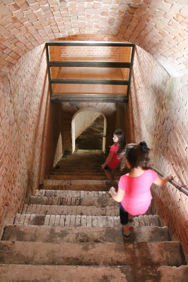 stairs at Fort Barrancas