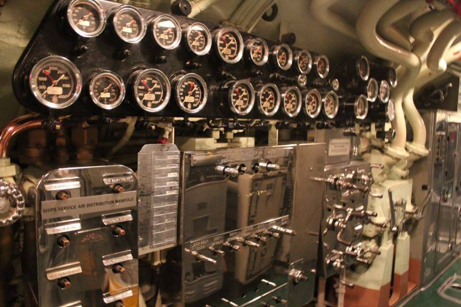 gauges on the USS Drum submarine
