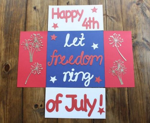 """patriotic care package that says, """"Happy 4th of July: Let Freedom Ring!"""""""