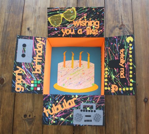 80s themed birthday care package