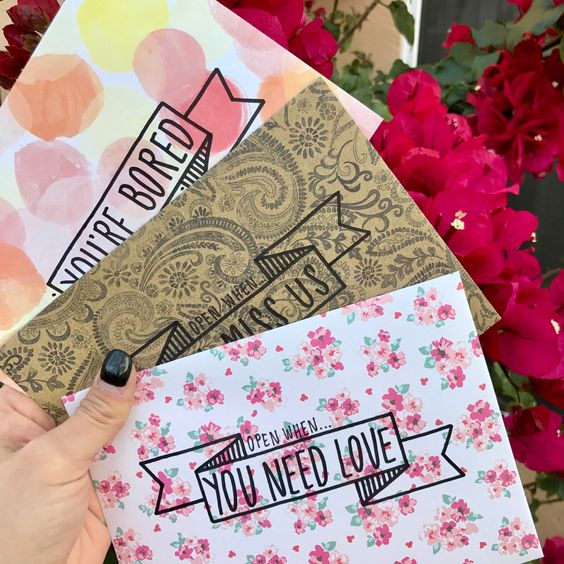 open when letter ideas: patterned envelopes